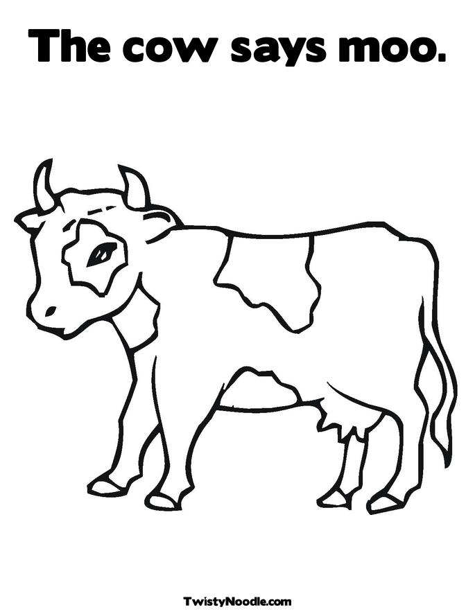 Cute Baby Cow Coloring Pages To Print Coloring Pages