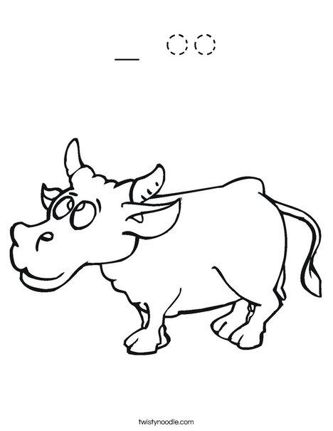 Happy Cow Coloring Page