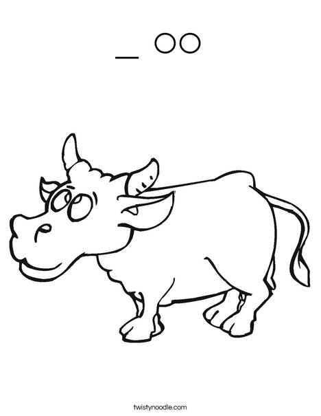 c is for cow coloring pages - photo #38