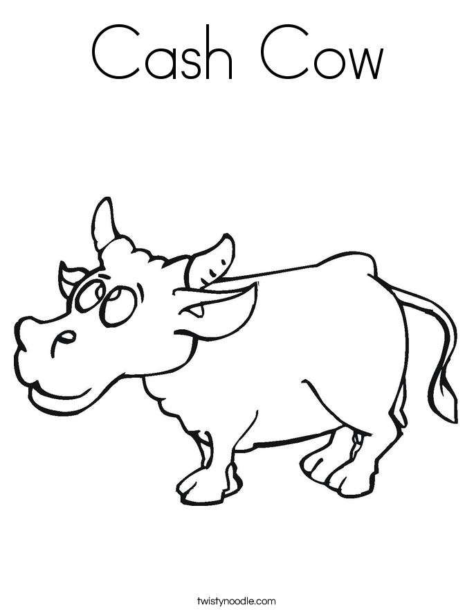 Cash Cow Coloring Page