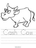 Cash Cow Worksheet