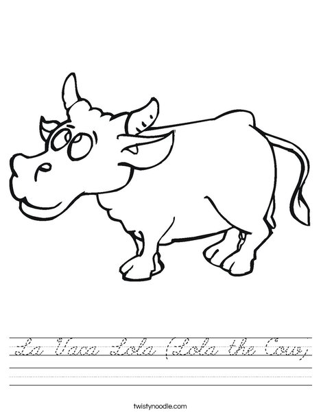 Happy Cow Worksheet