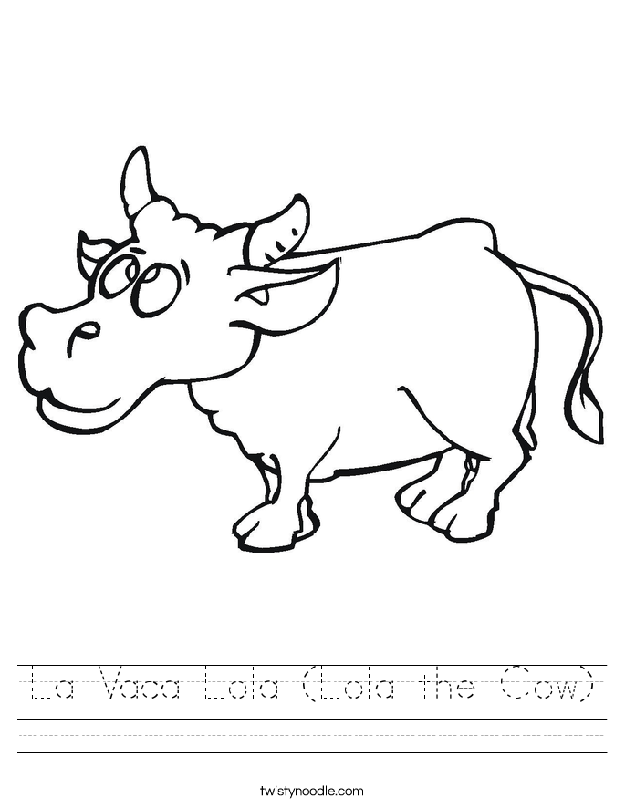 La Vaca Lola (Lola the Cow) Worksheet