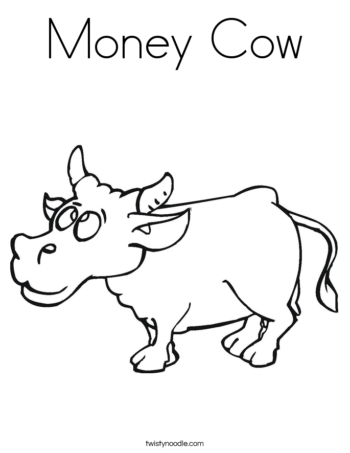 Money Cow Coloring Page