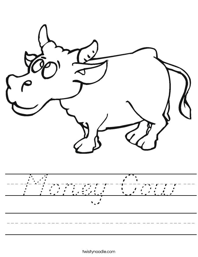 Money Cow Worksheet