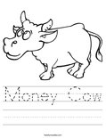 Money Cow Worksheet