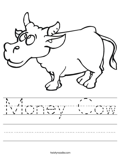 Happy Cow Worksheet