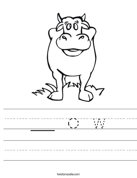 Black Cow Worksheet