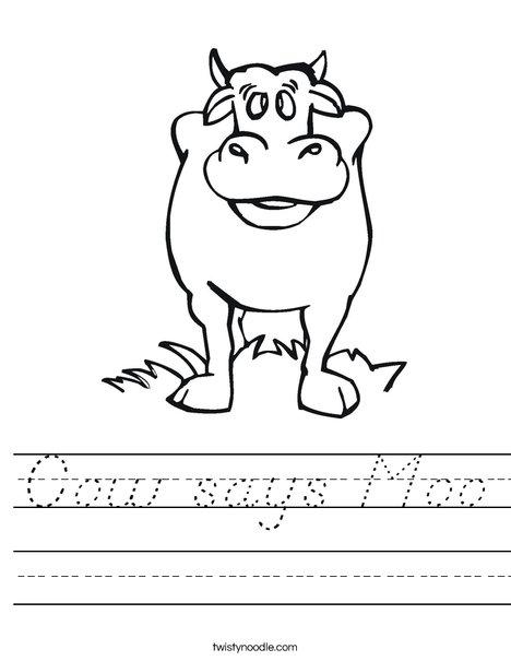Black Cow Worksheet