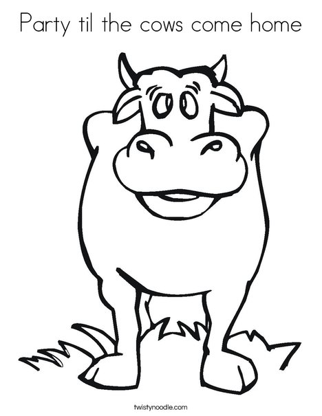 Black Cow Coloring Page