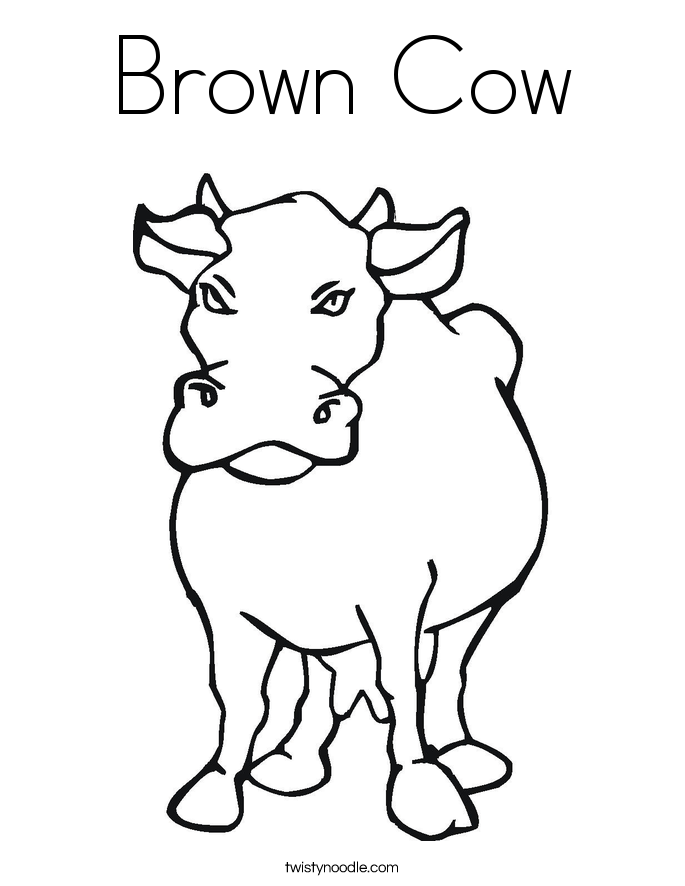 Brown Cow Coloring Page