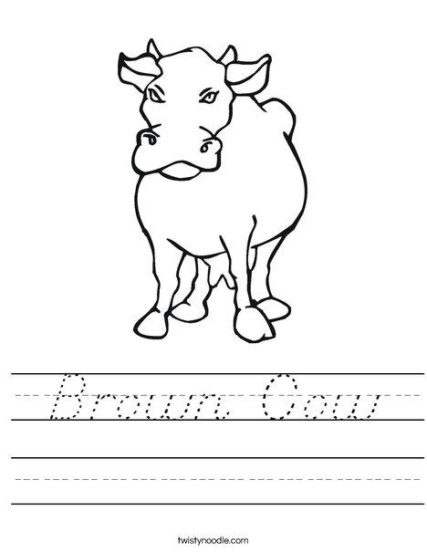 Brown Cow Worksheet
