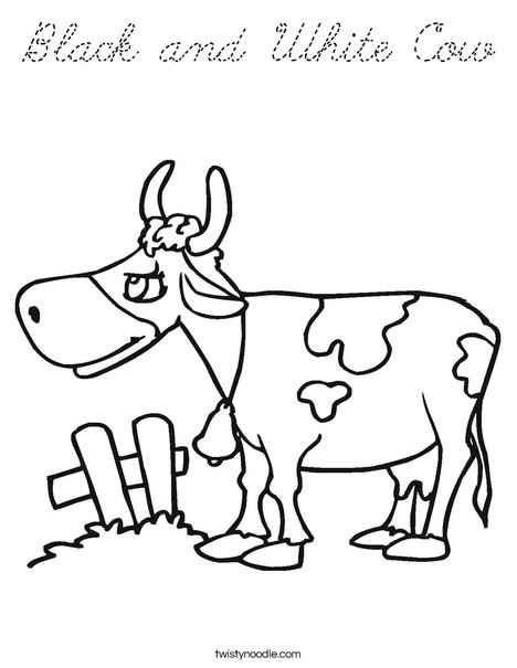 Cow with Spots Coloring Page