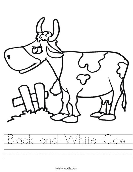 Cow with Spots Worksheet