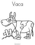 Vaca Coloring Page