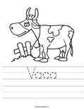 Vaca Worksheet