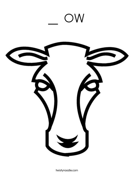 Cow Head Coloring Page