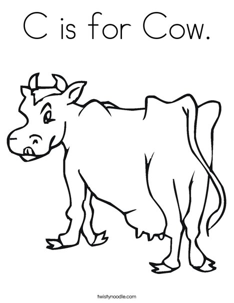 c is for cowboy coloring pages - photo #13