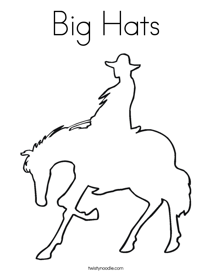 Big Hats Coloring Page