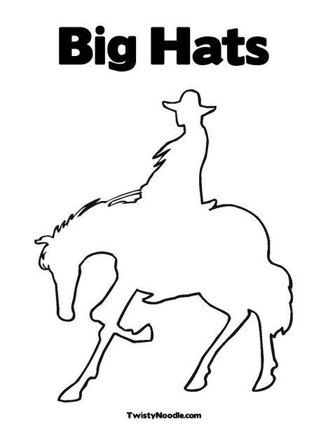 Cowboy Hat Coloring Sheet Cowboy Hat Coloring Pages