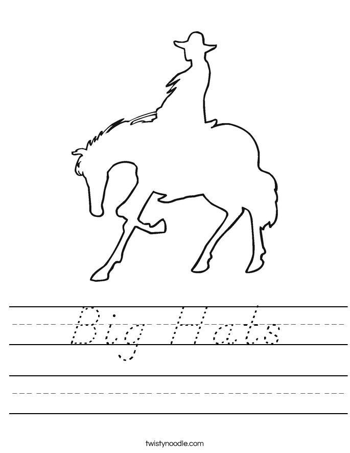 Big Hats Worksheet