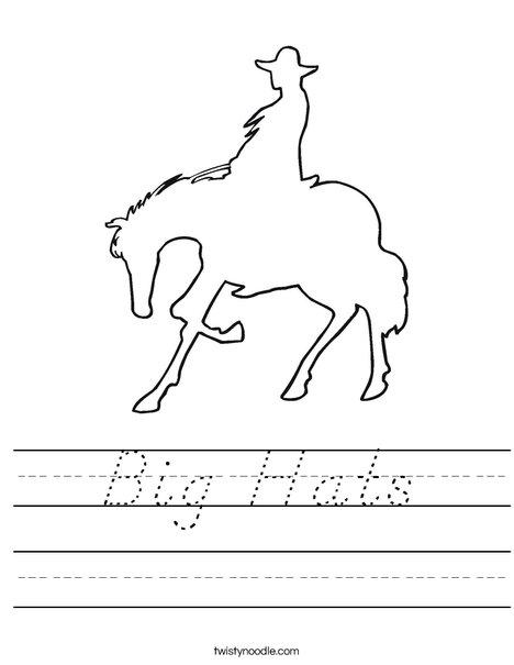 Cowboy on a Horse Worksheet