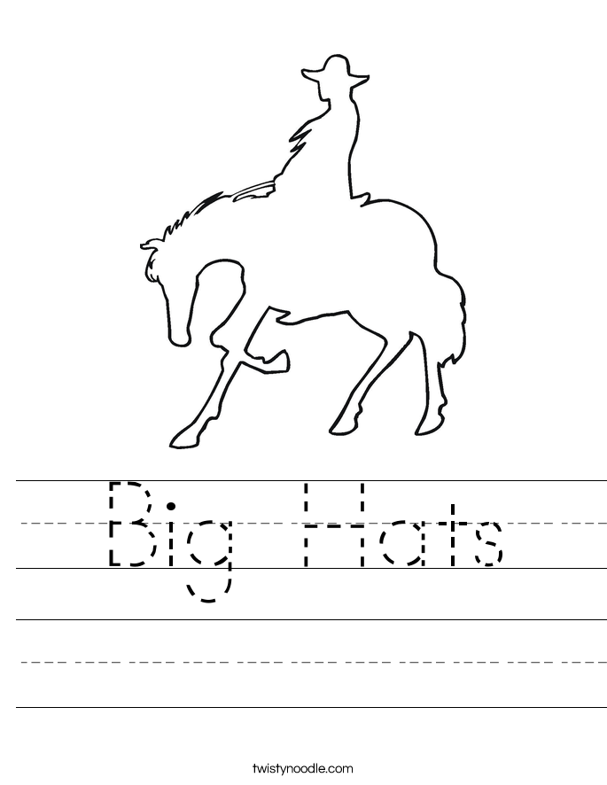 Big Hats Worksheet