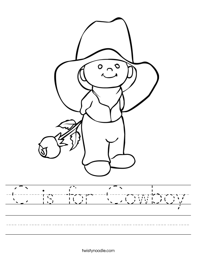 C is for Cowboy Worksheet