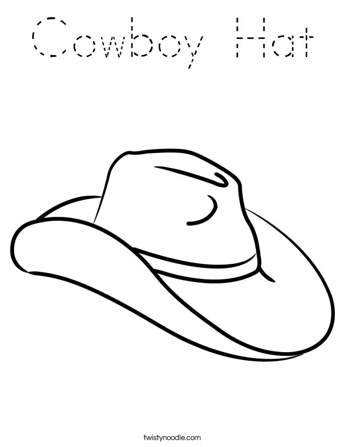 Cowboy Hat Coloring Page