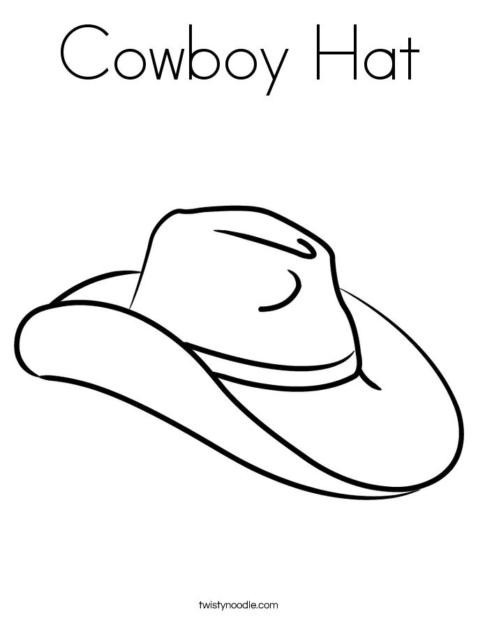 Cowboy Hat Coloring Page Twisty Noodle