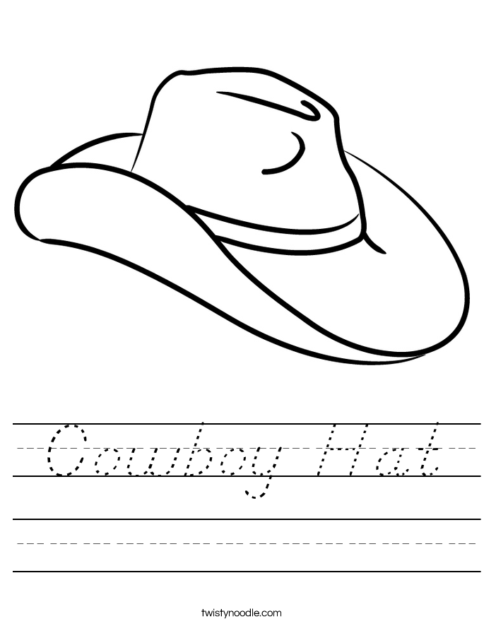 Cowboy Hat Worksheet
