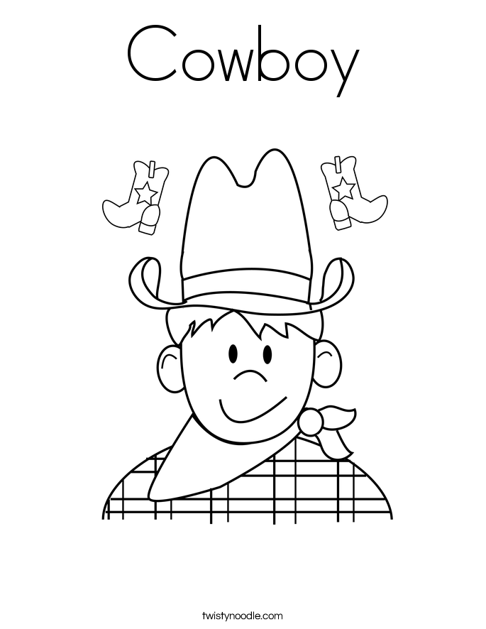 c is for cowboy coloring pages - photo #4
