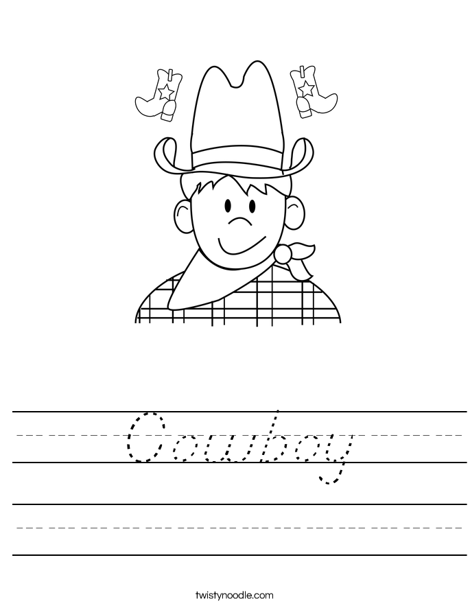 Cowboy Worksheet