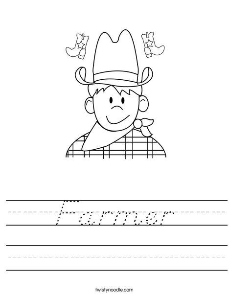 Cowboy Worksheet