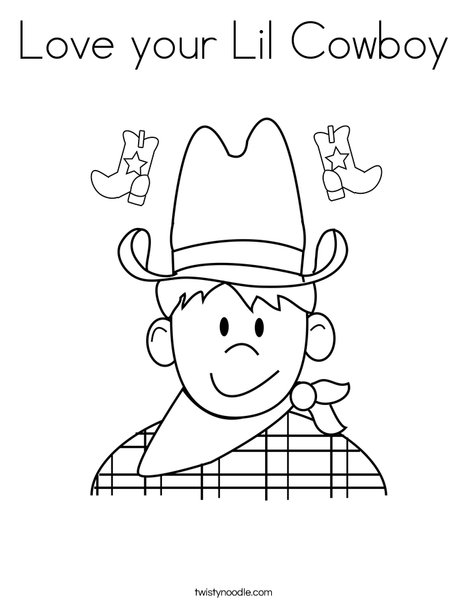 lil wayne coloring pages to print   Love your Lil Cowboy Coloring Page - Twisty Noodle
