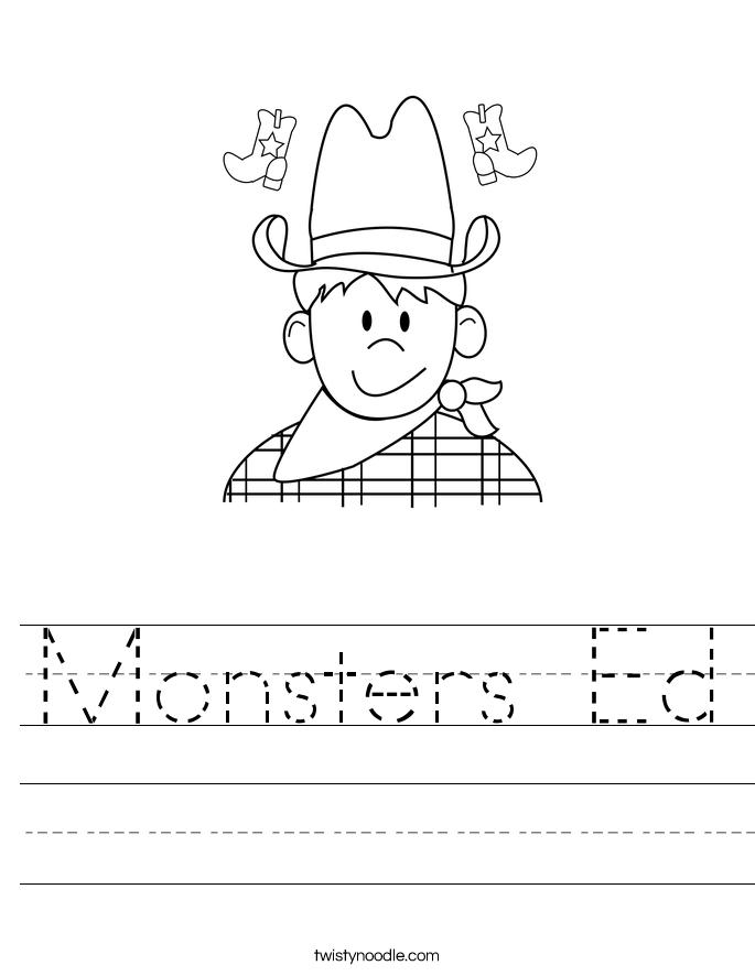 Monsters Ed Worksheet