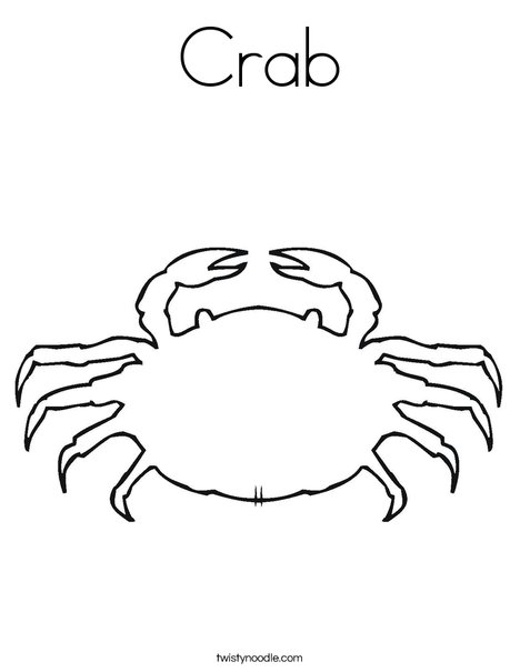 Crab Coloring Page - Twisty Noodle