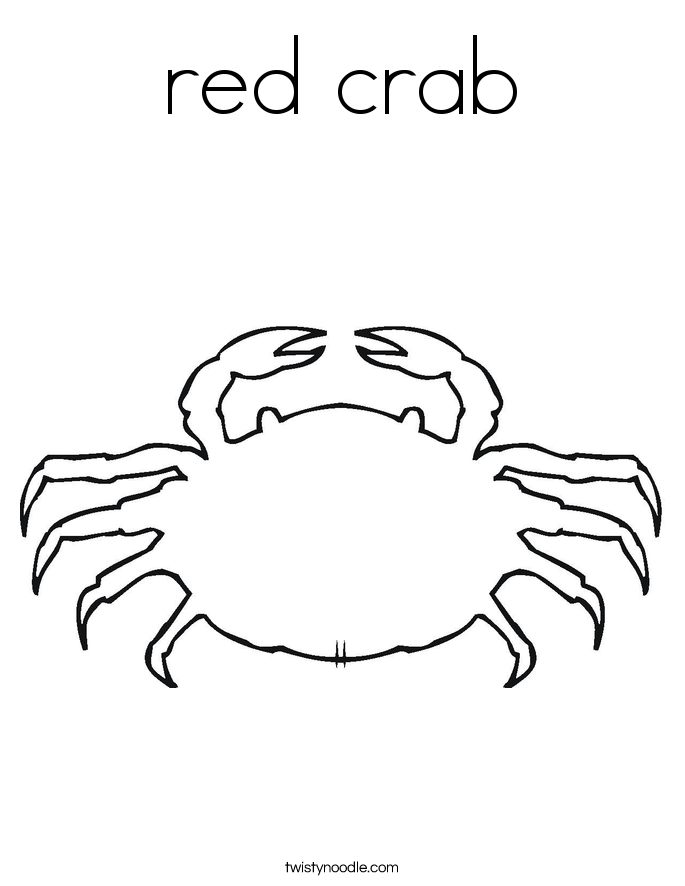 red crab Coloring Page