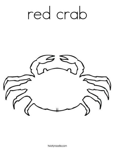 Blank Crab Coloring Page