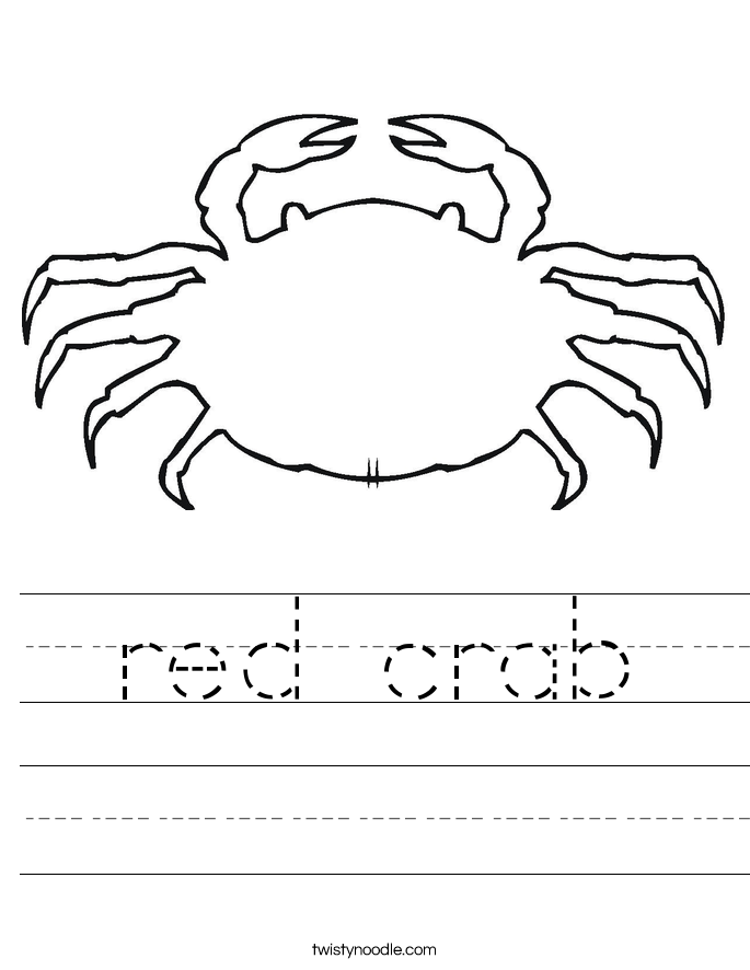 red crab Worksheet