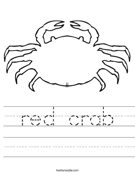 Blank Crab Worksheet