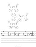 C is for Crab Worksheet