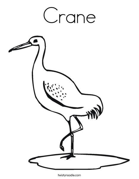 Crane Coloring Page