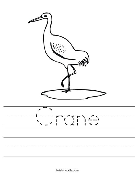 Crane Worksheet
