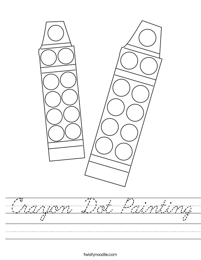 Crayon Dot Painting Worksheet