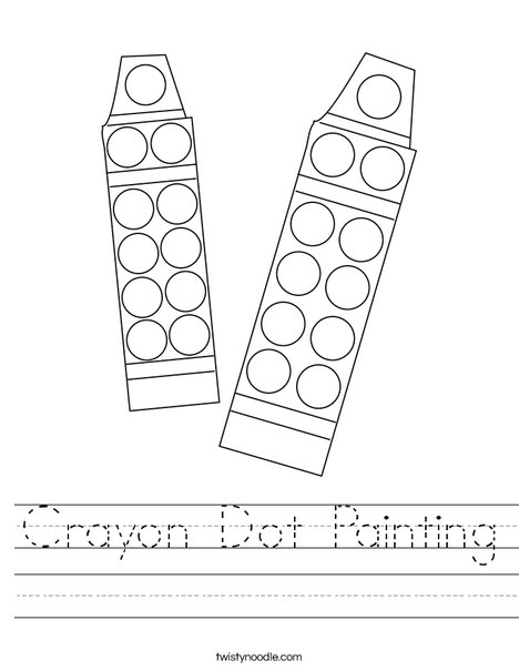 Crayon Dot Painting Worksheet