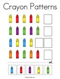 Crayon Patterns Coloring Page