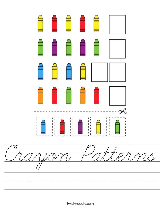 Crayon Patterns Worksheet