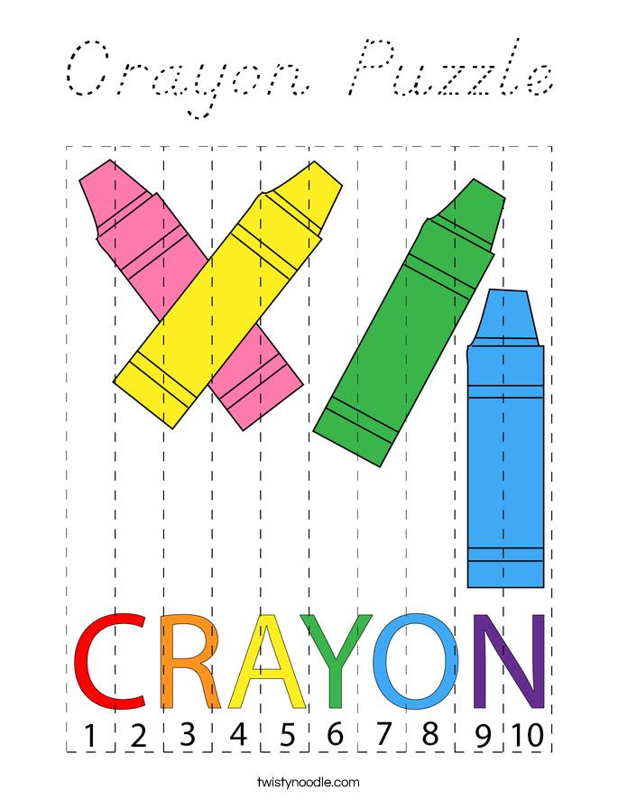 Crayon Puzzle Coloring Page
