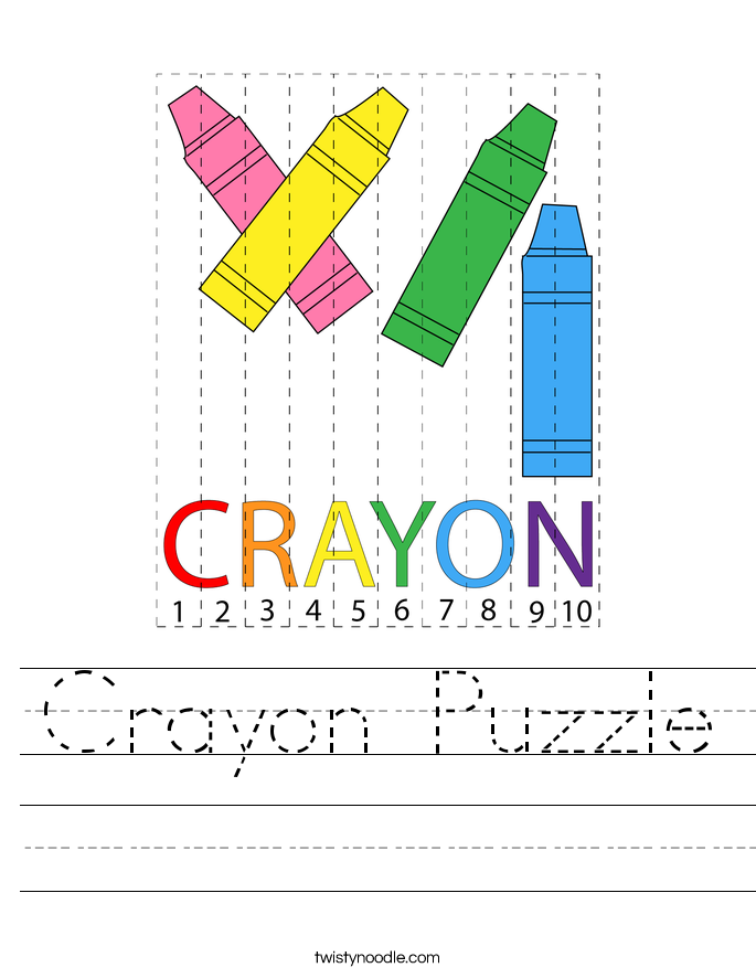 Crayon Puzzle Worksheet
